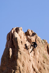 Rock Climber at the Top