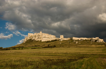storm over the Spis castle
