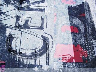ciudad y grafiti