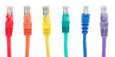 Rainbow color network cables