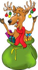 Reindeer in a Christmas