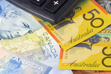 Australia and Canadian currency pair used in forex trading poster