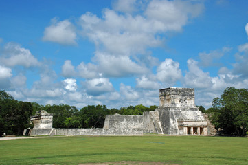 Distant view of Mayan Ball Court
