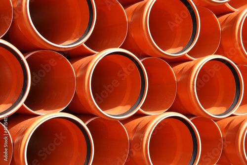 PVC pipes texture