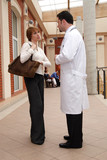 female patient male doctor conversation poster
