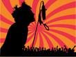 chanteur en concert