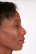 Mature African American woman in profile
