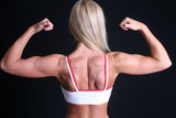 Woman flexing her back poster
