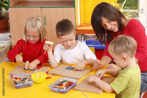 Leinwanddruck Bild preschoolers