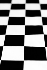 Black and white chessboard - depth of field