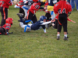 Fototapety young flag football player