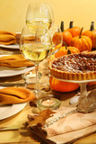 Table set for Thanksgiving poster