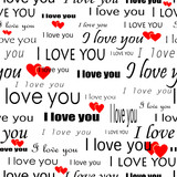 """Seamlessly wallpaper valentine with superscription """"I love you"""""""