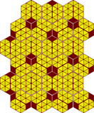 Hexagon background as comb poster