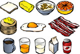Breakfast clipart poster