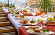 Leinwandbild Motiv Party Table
