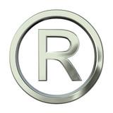 Registered trademark silver 3d poster