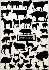 most of farm animal (vector)