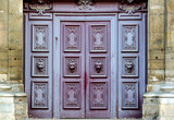 France, Paris: The door of st Paul church poster