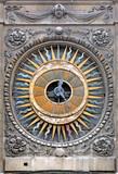 France, Paris: The clock of st Paul church poster