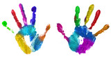 Fototapety multicolor hands print