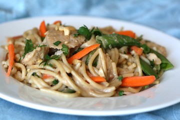 Chinese Food - Pasta Noodles with Chicken & Vegetables