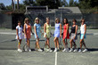 group of female tennis players