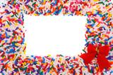 Candy Sprinkle Frame poster