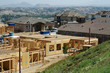 New Home Construction Site with New Home Framing - 4737437