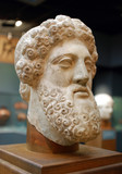 Bust of the god Zeus, 4th century BC poster