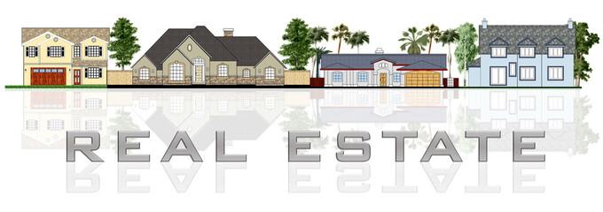 Real estate: a street illustration