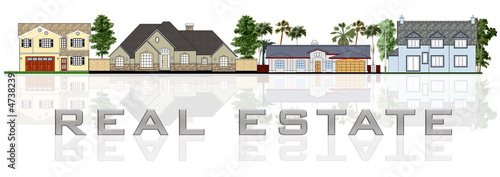 Real estate: a street illustration