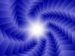 Blue spiral of squares