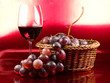 Vino y uvas tintas - red wine and grape