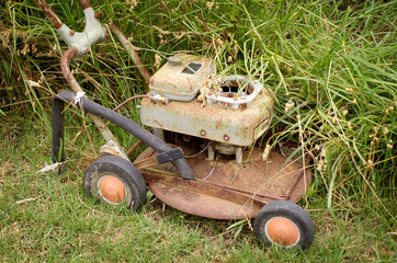 Rusty Lawnmower