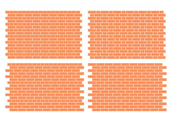 4 fully editable architectural brick work patterns