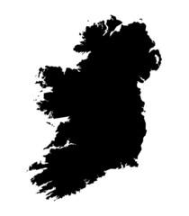 isolated bw map of Ireland