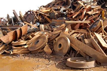Steel Wheels, Cogs, Scrap Pile