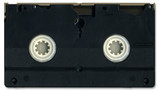 Old video cassette tape back including clipping path poster