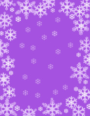 Purple Snowflake Background