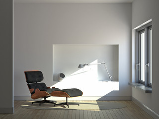 Quiet minimalist interior
