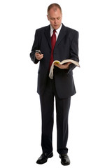 Businessman with Phone book