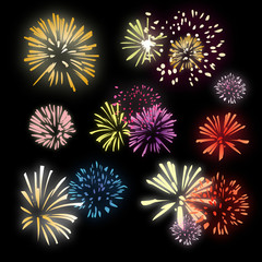 Feux d'artifice - Illustration