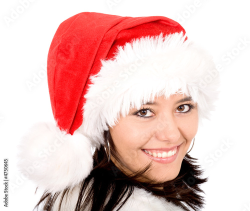 female santa portrait