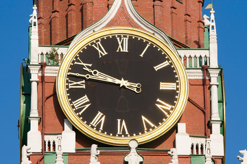 Clock on the Spasskaya tower