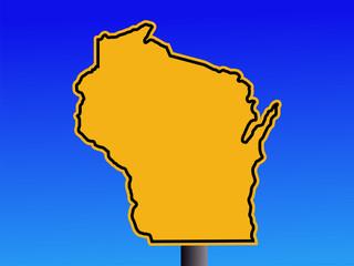 Wisconsin warning sign