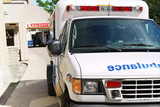 Ambulance at emergency poster