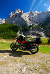 motorbike and mountains