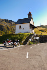 Chapel and bikes