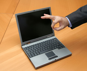 Confirming deal over laptop
